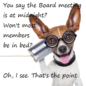 HOA Board Meeting Times